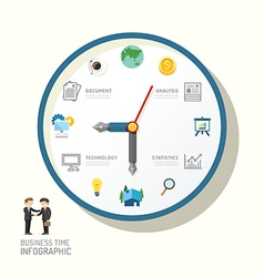 Infographic watch and flat icons idea business vector image vector image