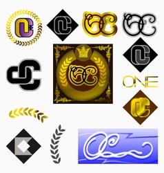 monogram OC vector image