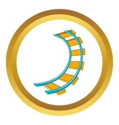 Roller coaster track icon vector image