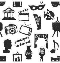 Seamless doodle culture pattern vector