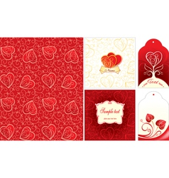 Set of Valentine day cards vector image