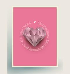 glacier diamond heart vector image