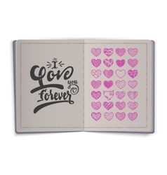 i love you forever Hand-lettering text Handmade vector image vector image