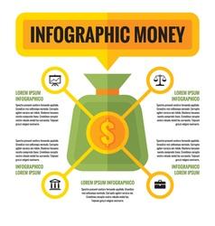 Infographic money dollar - concept scheme vector image vector image