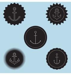 Set of anchor logo vector image