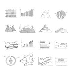 Sketch diagrams set vector