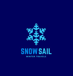 snow sail winter travels abstract sign vector image vector image