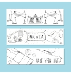 The website banners in retro style Hand-drawn vector image vector image