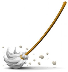 broom sweep floor vector image vector image
