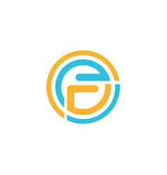 circle letter f logo vector image