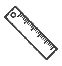 ruler line icon education and school vector image