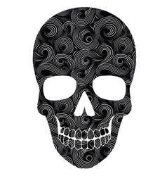 Skull Line Art Pattern vector image vector image