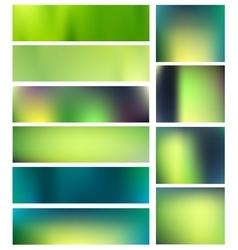 Summer blurred backgrounds set vector image