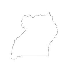 uganda map outline vector image