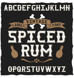 Vintage typeface for alcohol drinks vector