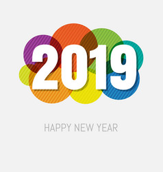 2019 new year card vector image