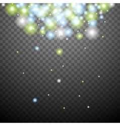 Abstract green blue transparent sparkle background vector image