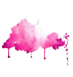 abstract pink hand painted watercolor texture vector image