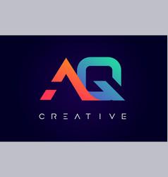 Aq logo letter design with modern creative vector