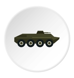 Armored troop-carrier icon flat style vector image