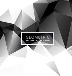 Black and white low poly geometric background vector