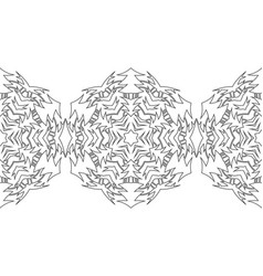 Black and white silhouette of snowflakes lace vector