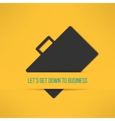 Business text background with a suitcase sign vector image