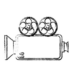 Camera cinema isolated icon vector