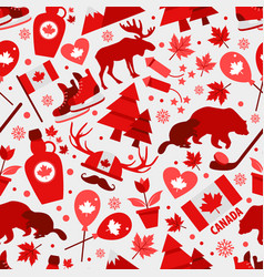 canada sign and symbol icons bright design flat vector image