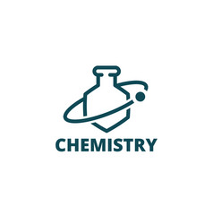 chemistry logo icon chemical preparations vector image