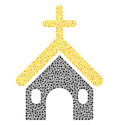christian church collage of dots vector image
