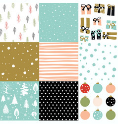 christmas patten set vector image