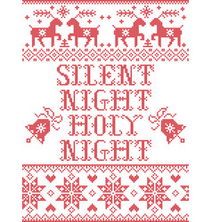 Christmas pattern silent night holy night vector