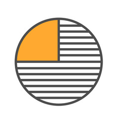 Circle diagram with missing part color icon vector
