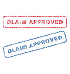 Claim approved textile stamps vector