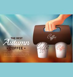 Coffee street food packaging poster vector