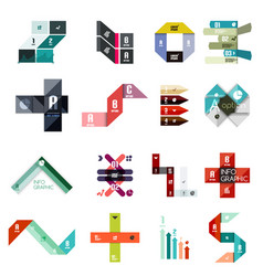 collection of colorful line and stripe infographic vector image