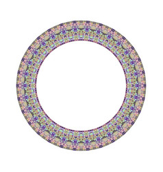 Colorful abstract isolated tiled mosaic circle vector