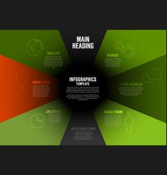 company profile infographic diagram template vector image