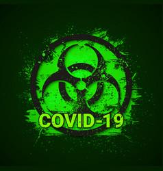 Covid19-19 biohazard sign 2019-ncov corona virus vector