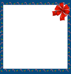 Cute christmas or new year square border with vector