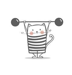 Cute circus cat vector image