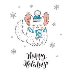 cute holidays greeting card vector image
