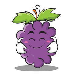 Cute smile grape character cartoon collection vector