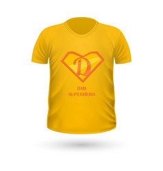 dad superhero t-shirt front view isolated vector image