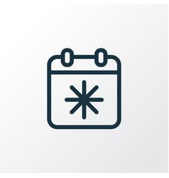 day x icon line symbol premium quality isolated vector image