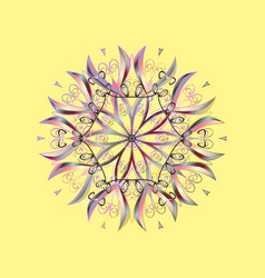 decorative texture background of mandalas vector image