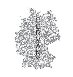 dotted map of germany on white background vector image