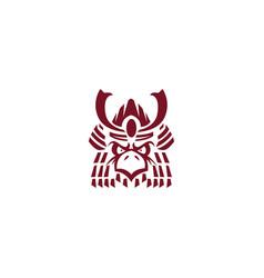 eagle samurai mascot logo vector image