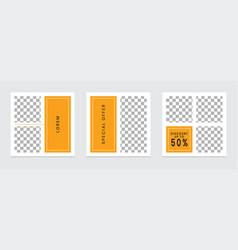 Editable social media templates instagram story vector